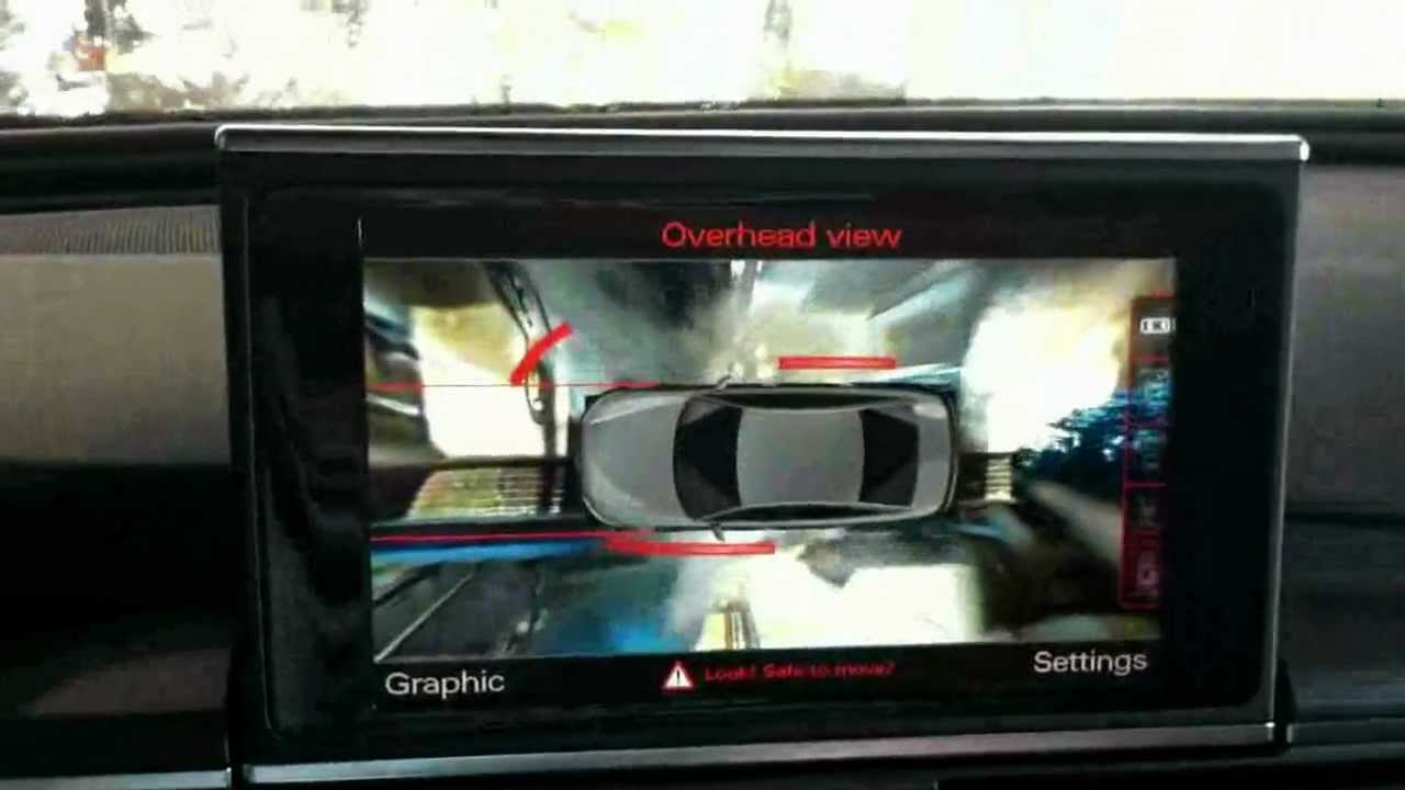 Audi Top View Camera Taken Through Car Wash Reuploaded