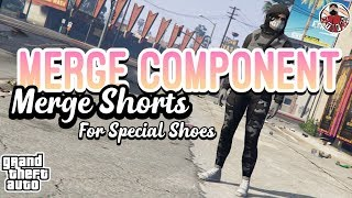 GTA5 | Female Merge Components: *Special* Merge Shorts (Black Skate/Scuba/Stuntman Shoes)