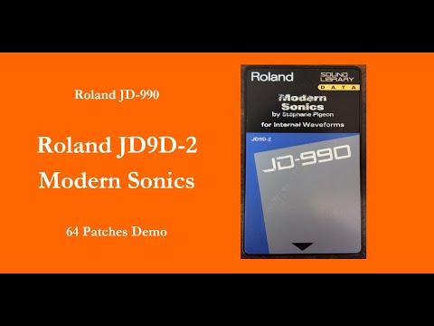 Roland JD9D-2 Modern Sonics - 64 Patches Demo - 100% sounds - no talking
