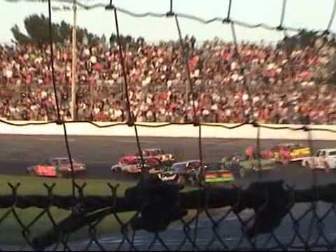 Seekonk Speedway Enduro Drag 105 hits wall