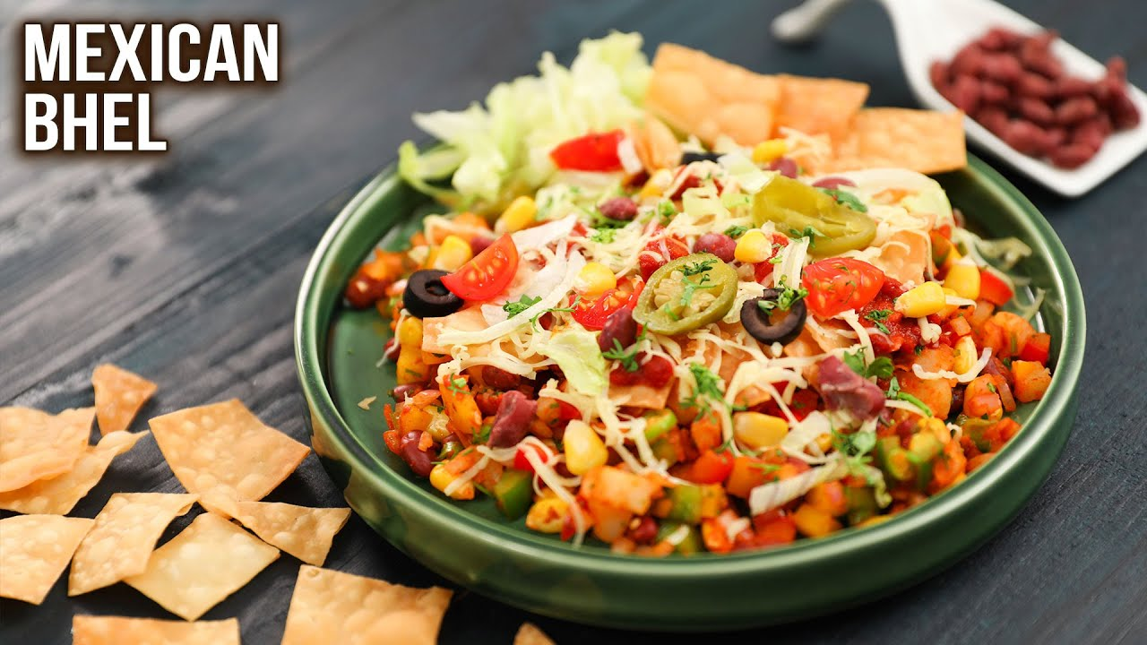 Mexican Bhel Recipe   How To Make Mexican Bhel   Tasty Snack Ideas   Mexican Chaat   Ruchi