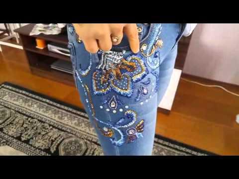 Вышивки на джинсы мастер класс