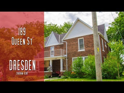 CHATHAM-KENT - 189 Queen St - Dresden [propertyphotovideo]