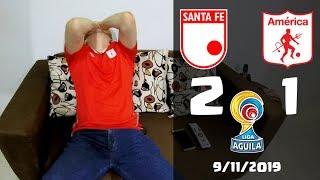Santa Fe 2 vs 1 America de Cali | Reacciones | Liga Aguila 2019 Cuadrangulares