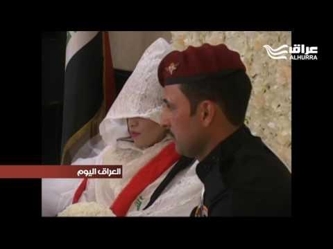 زواج الجندي فهد أبن مدينة الناصرية من فتاة موصلية يثير التفاؤل بسلامة المجتمع