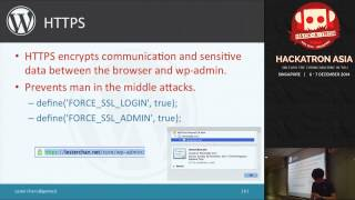 Hackatron Asia: Tips & Tricks in securing your WordPress installation