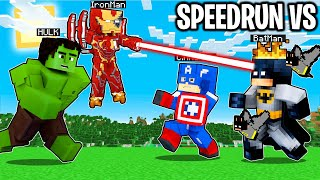 2 SPEEDRUN SUPEREROI vs 2 CACCIATORI SUPEREROI - Minecraft ITA