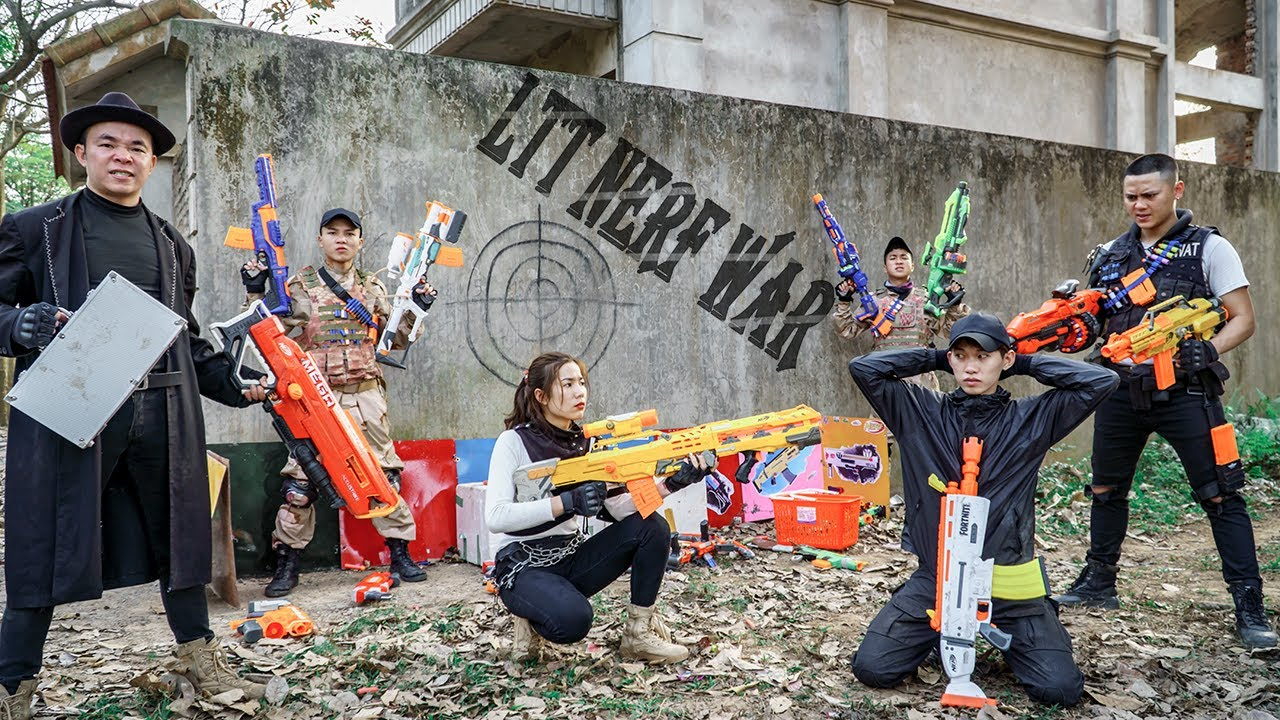 LTT Nerf War : The Expendables SEAL X Warriors Nerf Guns Fight Suicide Squad Dr Ken Crazy
