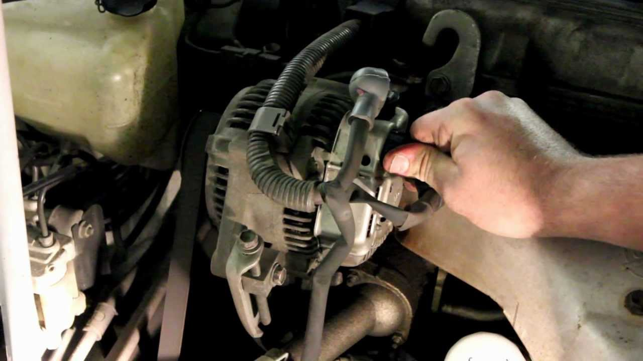 2000 mitsubishi galant engine diagram chevy trailer wiring harness toyota alternator replacement - youtube