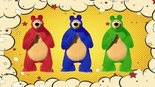 Learn Colors With  Masha And The Bear - Colours For Kids Children Toddlers Baby Play Videos