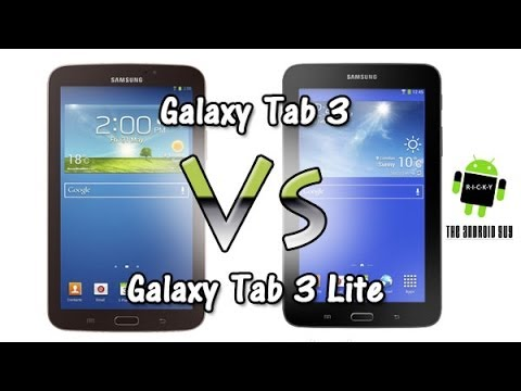 galaxy tab 3 vs tab 3 lite comparison youtube