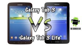 Galaxy Tab 3 vs Tab 3 Lite (Comparison)