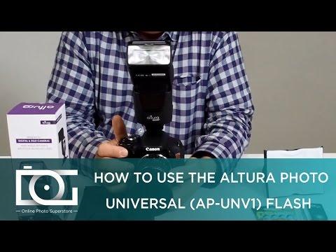 Universal Camera Flash for DSLR Cameras w/ Standard Hot Shoe Mount | By Altura Photo® AP-UNV1