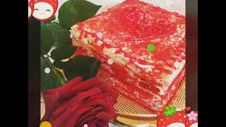 Клубничный торт наполеон