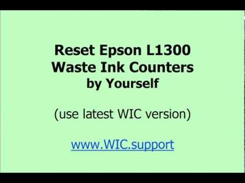 Reset L1300 waste ink pads by Yourself