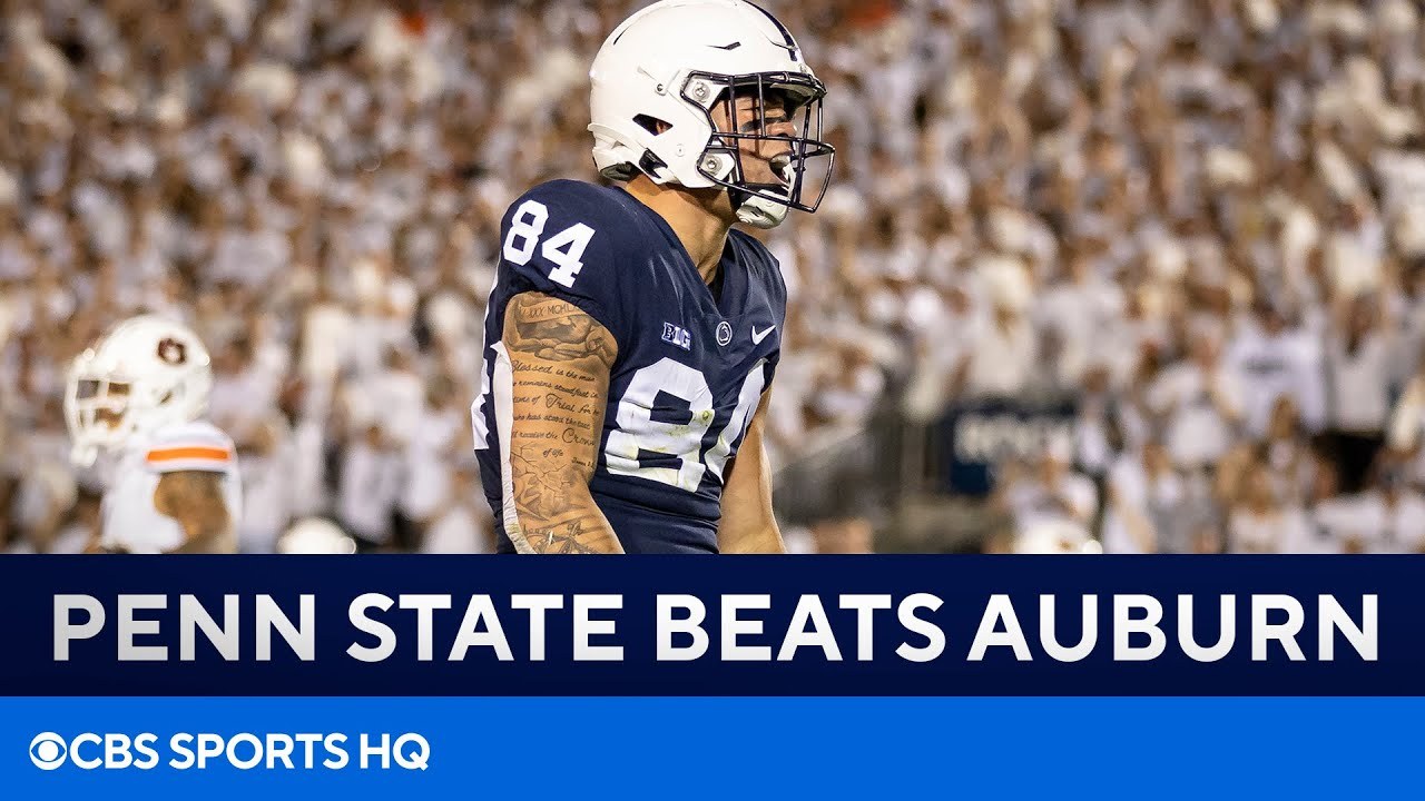 No. 10 Penn State holds on to defeat No. 22 Auburn