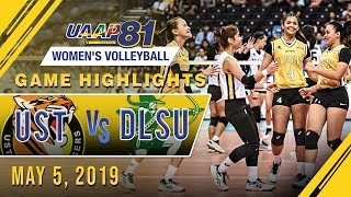 UAAP 81 WV Final Four: UST vs. DLSU | Game Highlights | May 5, 2019