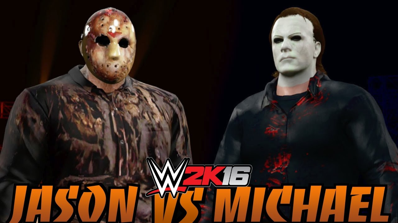 wwe 2k16 jason voorhees vs michael myers halloween
