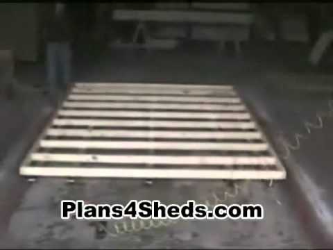 How To Build A Shed Floor Youtube