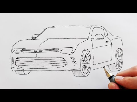 How To Draw A Sport Car Chevrolet Easy Step By Step For Kids Cok