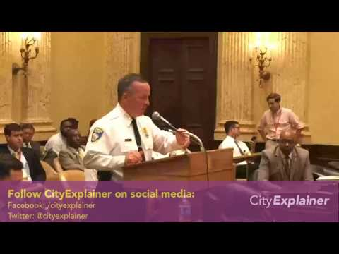 Baltimore City Council Hearing On Death of Tyrone West in Baltimore Police Custody