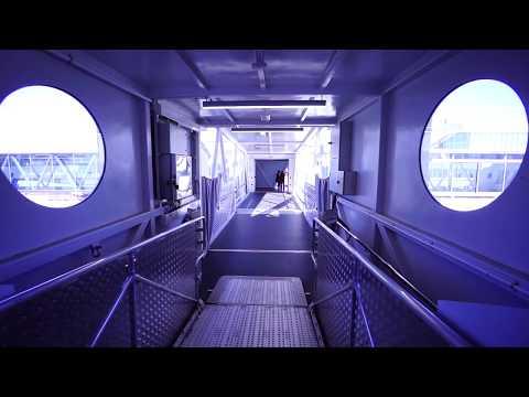 Sweden, Stockholm, Värtahamnen, leaving Cruise Ship MS Victoria I