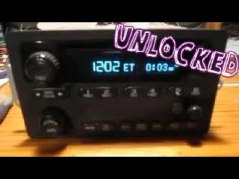 Wiring Diagram For 2002 Gmc Envoy Unlocked Chevrolet Theftlock Radio Youtube