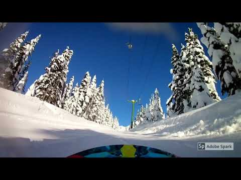 Snowboarding at Hudson Bay Mountain 2017/2018