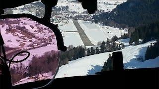 Falcon 7X Landing at Saanen-Gstaad Airport