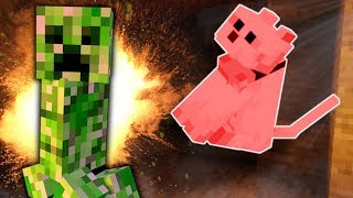 MY CAT WAS BLOWN UP BY A CREEPER! - Minecraft Gameplay