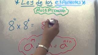 LEY DE LOS EXPONENTES EN LA MULTIPLICACIÓN