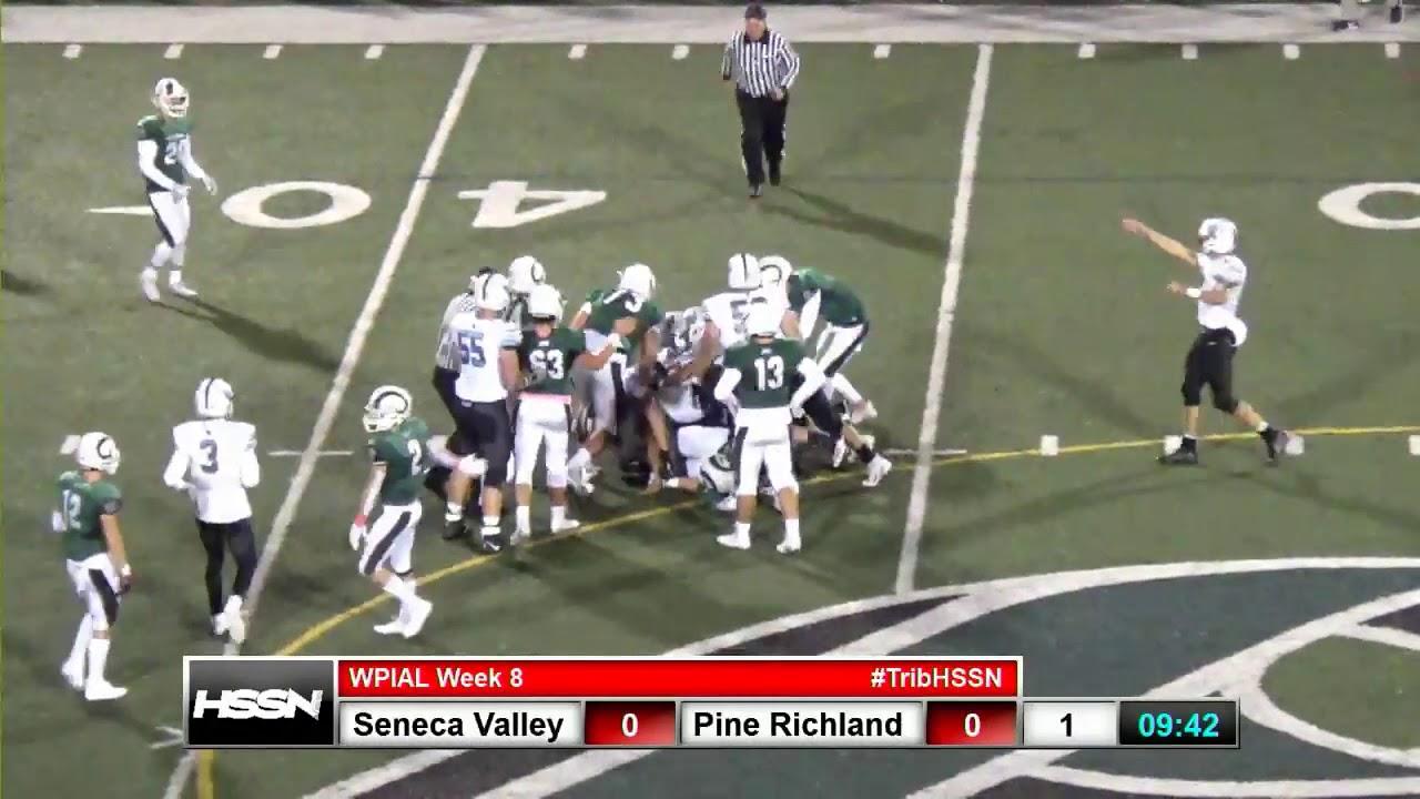WPIAL Football - Seneca Valley at Pine-Richland - YouTube