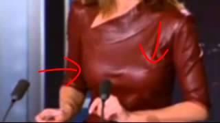 AnneClaire Coudray présente le JT de TF1 sans soutien gorge
