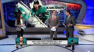 NHL Now:  Erik Karlsson out for tonight`s game against the Capitals  Feb 14,  2019
