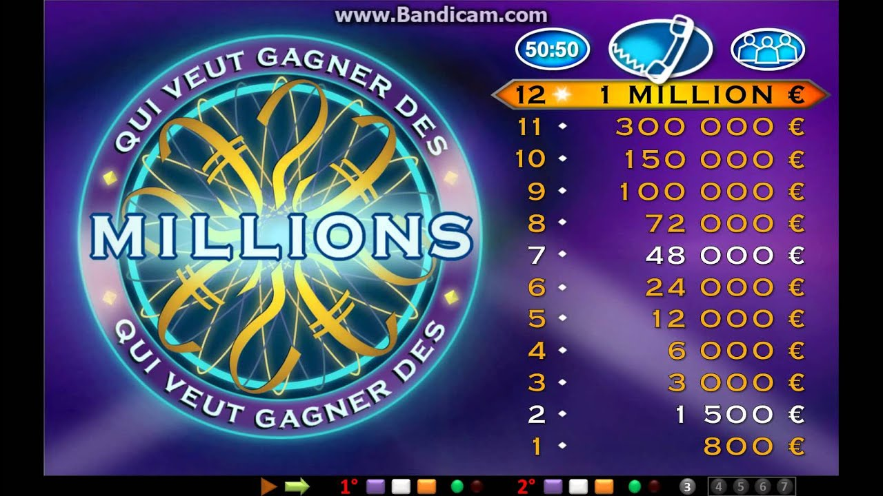 who wants to be a millionaire powerpoint (french) - youtube, Powerpoint templates
