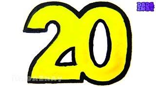 Учим цифры от 1 до 20|Пишем цифры|Цифры раскраски| Учим цвета с маркерами|Учимся считать от 1 до 20