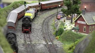 Ho Scale Model Trains / Locomotives on railroads more from Hobby Fair 2017 - Norway