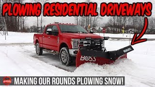 Video still for Plowing Snow And Clearing Our Residential Driveways! - More Snow Plowing Footage!