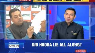 The Newshour Debate: Auditor nails Bhupinder Singh Hooda lie - Full Debate (17th Oct 2014)