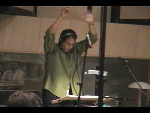 Stanley Clarke conducting music for the movie The Transporter