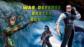 War Defense Roster review - Marvel Strike Force