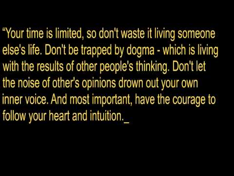 Steve Jobs Quote -Your time is limited