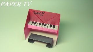 [Paper TV] Origami Piano 피아노 종이접기 折り紙 ピアノcomo hacer un piano de papel piano de papel