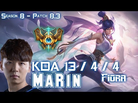 MaRin FIORA vs SINGED Top - Patch 8.3 KR Ranked