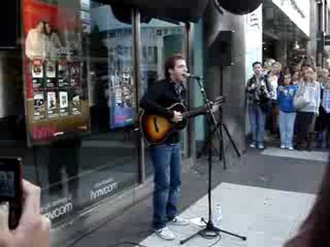James Morrison You Give Me Something busking in Birmingham