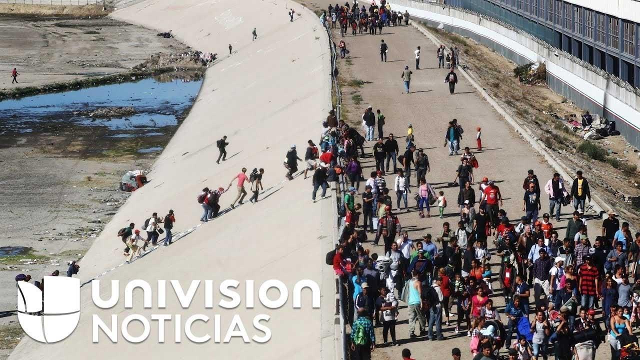 Resultado de imagen para trump caos caravana migrante tijuana