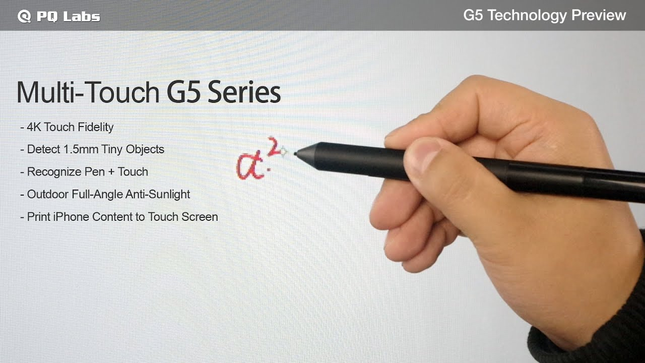 Multi-Touch G5 Technology Advantages - YouTube