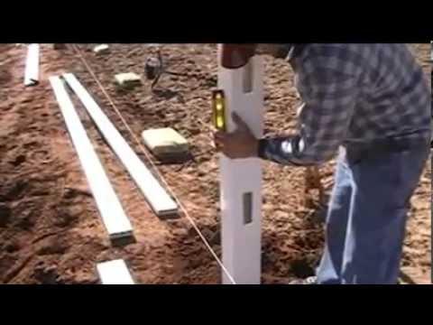 How To Build A 4 Foot Tall 2 Rail Vinyl Ranch Rail Fence