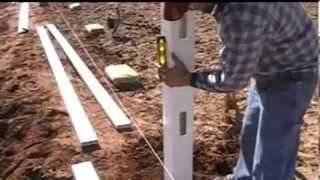 How To Build A 4 Foot Tall 2 Rail Vinyl Ranch Rail Fence
