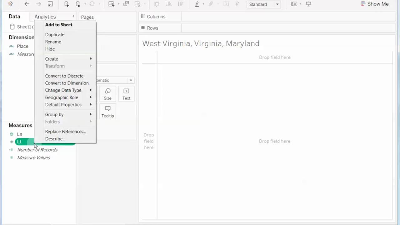 How to plot geographic data using custom longitude and latitude values in  Tableau